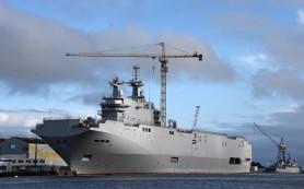 Вертолетцоносе «Севастополь» типа «Мистраль» вышел на испытания