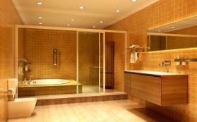 Разнообразие освещения ванной комнаты. Светодиодная лента