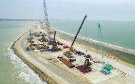 Началось строительство свайного фундамента Крымского моста