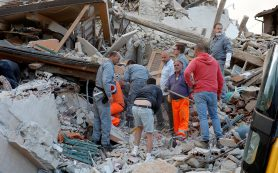 Итальянский город Аккумоли практически разрушен