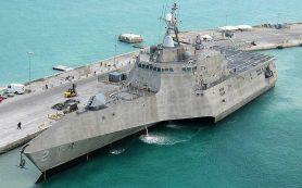 Боевой корабль США получил пробоину в Панамском канале