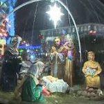Перед Казанским собором установили Рождественский вертеп