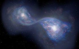 Астрономы наблюдают древнейшее известное науке столкновение галактик
