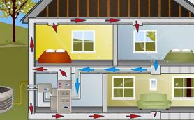 Особенности установки воздушного отопления: от котла до пластикового воздуховода