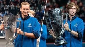 Медведев и Рублев со сборной Европы отпраздновали победу в Кубке Лэйвера