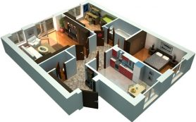 Трехкомнатные квартиры в новостройке «Выше»